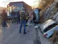 Scontro tra auto e pullman sulla strada che collega Buccino a Romagnano al Monte. Un ferito