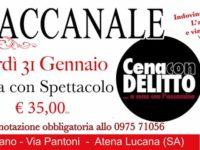"""Atena Lucana: il 31 gennaio """"Cena con delitto"""" al ristorante Baccanale del Centro Commerciale Diano"""