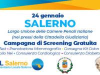 Asl Salerno e Ordine Avvocati insieme per la prevenzione. A Salerno screening gratuiti in piazza