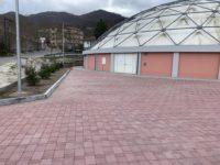 A Vietri di Potenza completati i lavori nell'area antistante il Palazzetto dello Sport