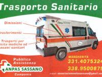 La Pubblica Assistenza ANPAS Sassano dà il via ai trasporti sanitari in ambulanza