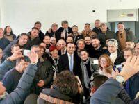 """Il Ministro Di Maio a Battipaglia dopo la vittoria dei lavoratori Treofan.""""E' l'Italia che vogliamo"""""""
