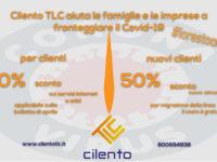 Cilento TLC aiuta a fronteggiare l'emergenza Coronavirus con sconti sui servizi Internet e ADSL