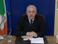 """Coronavirus. De Luca:""""Governo adotti misure drastiche contro l'arrivo di cittadini da altre regioni o Paesi"""""""