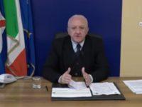 """Coronavirus. Il Governatore De Luca: """"Comportamenti irrispettosi, pronti a chiudere tutti i locali"""""""