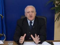 Coronavirus in Campania. De Luca sospende cantieri edili e limita presenza di personale negli uffici pubblici