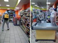 Contrasto al Coronavirus. Sanificazione dei supermercati Conad e Todis del Gruppo Biscotti