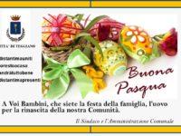A Teggiano l'Amministrazione comunale dona le Uova di Pasqua a tutti i bambini della città