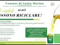 Dal Comune di Santa Marina un'iniziativa per la salvaguardia dell'ambiente: riciclo degli oli vegetali usati