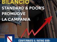 """Standard & Poor's promuove la Regione Campania. De Luca:""""Importante riconoscimento per la politica economica"""""""