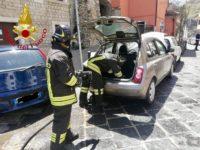 Auto disperde gas in strada a Potenza. I Vigili del Fuoco intervengono ed evitano il peggio