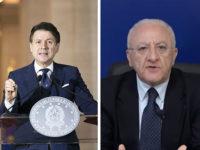 """Zone Rosse escluse dal Dl Rilancio. Conte:""""Fondi garantiti a tutti"""".De Luca:""""Daremo misure al Vallo di Diano"""""""