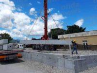 Padula: al via i lavori della futura palestra in località Cardogna. Posato il primo pilastro
