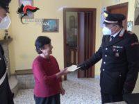 Emergenza Coronavirus. I Carabinieri di Avigliano consegnano la pensione ad una 79enne del posto