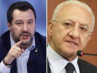 """De Luca annuncia il rientro di 20mila lavoratori extracomunitari a Salerno e Caserta. Salvini:""""Una vergogna"""""""