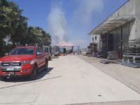 Incendio in una fabbrica di acciaio ad Albanella. Intervengono i Vigili del Fuoco
