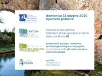 Giornate Europee dell'Archeologia. Il 21 giugno ingresso gratuito alla Certosa di Padula e al Battistero