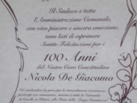 Da oggi Caselle in Pittari annovera cinque centenari. Nicola De Giacomo festeggia il traguardo dei 100 anni