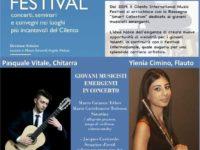 La flautista Ylenia Cimino e Pasquale Vitale il 5 luglio a Torchiara per Cilento International Music Festival