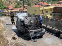 Auto distrutta dalle fiamme a Vietri di Potenza. Attimi di paura in via Grotta di Cesare