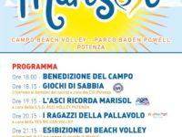 A Potenza questa sera apertura di un campo da beach volley dedicato all'atleta Marisol Lavanga