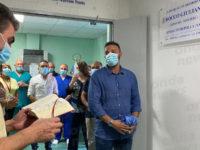 Ospedale di Polla. All'ingresso del reparto di Chirurgia una targa in ricordo del sindaco Rocco Giuliano