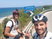 Da Caggiano alla Sicilia in bicicletta. Maurizio e Sergio percorrono 740 km in sei giorni