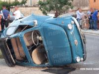 Rocambolesco incidente tra Silla e Teggiano. Auto si ribalta, ferito uomo di Sassano