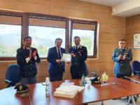 A Padula il saluto della Comunità Montana-Vallo di Diano al Capitano dei Carabinieri Davide Acquaviva