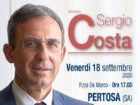 Domani a Pertosa visita istituzionale del ministro dell'Ambiente Sergio Costa