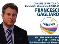 Elezioni Amministrative 2020: Pertosa – Lista n°3 PAESE MIO – Candidato sindaco FRANCESCO GAGLIARDI