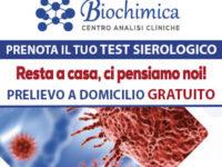 Prenota il tuo test sierologico al Centro Analisi Biochimica – Prelievo a domicilio gratuito