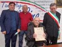Sant'Arsenio si stringe intorno a Nonno Luigi Costa e festeggia il suo secolo di vita