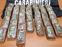 40 panetti di hashish nell'armadio in mansarda. Arrestato un uomo a Polla