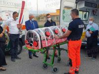 Alla SAUT di Teggiano ambulanza e barella anti-Covid grazie a Banca Monte Pruno e un'associazione di Piaggine