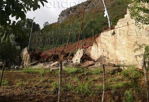 """Teggiano: le piogge abbondanti devastano il Campo Sportivo """"Marco Fusco"""" in via Due Madonne"""