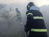 Vegetazione in fiamme a Potenza. I Vigili del Fuoco domano vasto incendio
