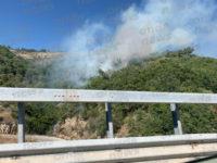 Incendio in montagna tra Romagnano al Monte e Vietri di Potenza. Interviene canadair dei Vigili del Fuoco