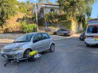 Violento scontro tra auto e bici a Vibonati. Ferito un uomo del posto