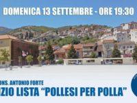 """Elezioni Amministrative. Domani la lista """"Pollesi per Polla"""" incontra i cittadini in Piazza Monsignor Forte"""