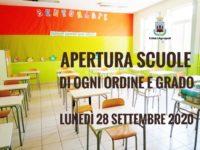 Riaperture scuole. Ad Agropoli si torna tra i banchi il 28 settembre