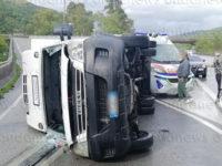 Incidente sulla Cilentana. Perde il controllo del furgone nei pressi dello Svincolo di Omignano, ferito