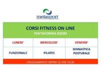 Alla Metasport di San Rufo al via i corsi fitness online per mantenersi in forma