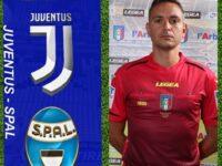 Coppa Italia. Manuel Robilotta dell'AIA di Sala Consilina assistente nel match Juventus-Spal del 27 gennaio