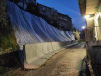 Frana un muro in via Tre Croci ad Auletta. Portata rapidamente a termine la messa in sicurezza