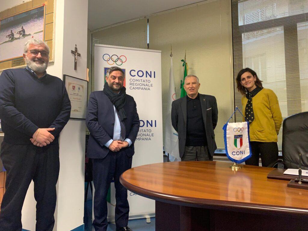 Al Centro Sportivo di San Rufo un Museo dello Sport. A Napoli incontro con il Presidente CONI  per discutere di programmazione