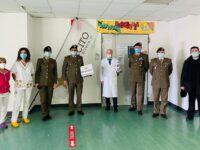 Il 4° Reggimento Carri di Persano dona materiale al reparto di Pediatria dell'ospedale Polla