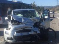 Scontro tra auto e autobus nei pressi della Cilentana a Vallo Scalo. 4 feriti tra cui un bambino