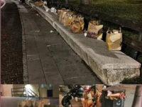 Rifiuti abbandonati e strade sporche a Salerno dopo il weekend. La denuncia della Lega