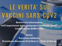 """""""La verità sui vaccini Sars-Cov2"""". Domani webinar del Rotaract Club Sala Consilina-Vallo di Diano"""